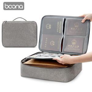 Image 1 - Boona אוקספורד עמיד למים מסמך תיק ארגונית ניירות אחסון פאוץ תיק אישורים תעודת אחסון קובץ כיס עם מפריד