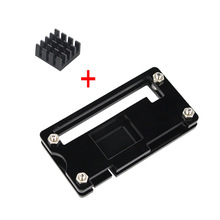 Raspberry Pi Zero W Case Acrylic Case + Black Aluminum Heat Sink Transparent Box compatible for Raspberry Pi Zero V 1.3 Board