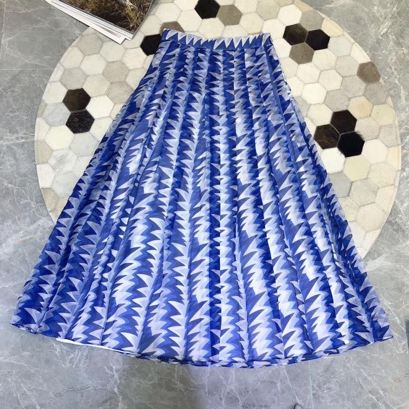 Mode À Nouvelles Femmes Shirts Deux Soie Pièces Avec Chemises Jupe 2019 Longues Pour Manches gqnZAYgp