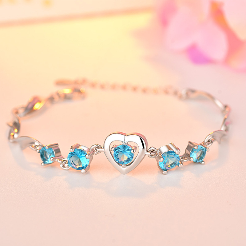 ZTUNG GLP6 heart 2019 Europe and America new classic Bracelet fashion jewelry Bangles silver bracelet for