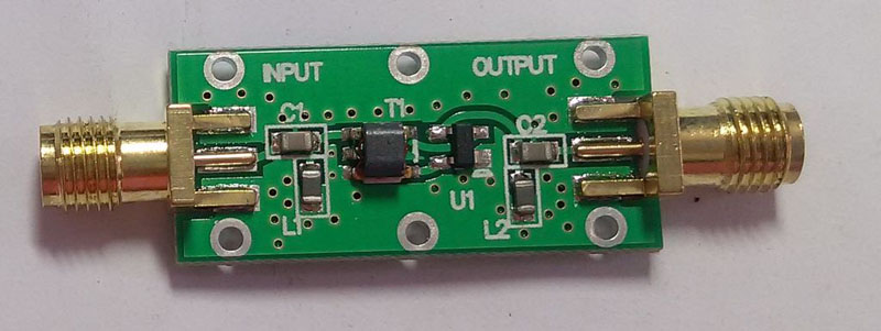 1pcs Double frequency multiplier input 10MHZ to 1.2GHz output 20MHZ to 2.4GHz