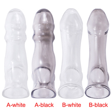 2019 1 Pcs Man Penis Extender Enlarger Sleeve Condom Style Reusable Cock Cover DC88
