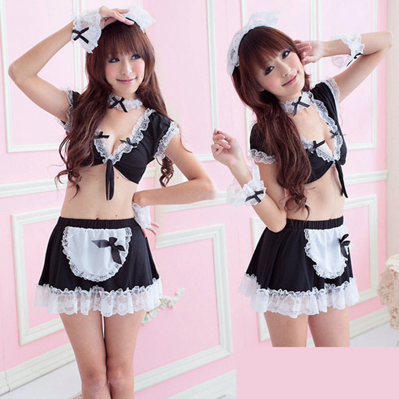 1 Set Final Fantasy School Girl French Maid Costume Sexy ...