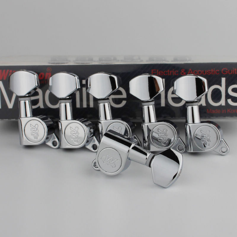 Clearance Processing 1 Set Guitarfamily 3r-3l Guitar Machine Heads Tuners Gold #0053 Made In Korea