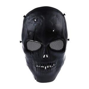Image 1 - Schedel Skelet Airsoft Paintball Bb Gun Full Face Mask Bescherm Shot Helmen Schuim Gevoerde Binnenkant Zwart Eye Shield Volledige Cover