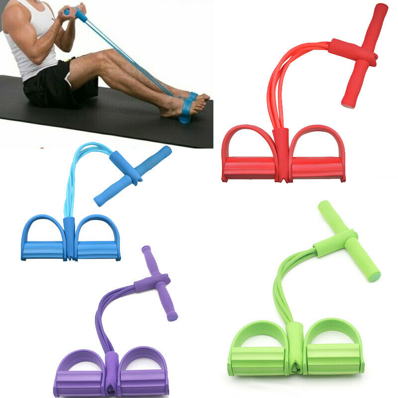 Fitness Gum 4 Tube Resistance Bands Latex Pedal Exerciser Sit-up Pull Rope Expander Elastic Bands Yoga equipment Pilates Workout(China)