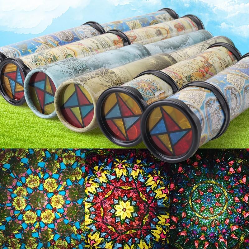 Kids Toys Kaleidoscopes Educational-Toys Extended-Rotation Color-World Fancy Children