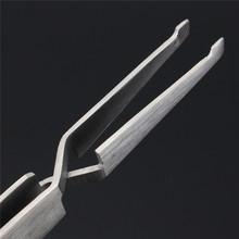 1PC Dental Direct Bracket Holder Orthodontic Bonding Serrated Dentistry Instruments Tweezer Stainless Steel Plier For Teeth Care