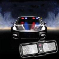 Super Jasne 86LED Czerwony i Biały Ciężarówka Samochodów Awaryjne Ostrzeżenie Światło Auto Daszek Strobe Policja Wodoodporna Lampa LED Miga