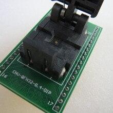 QFN32/DIP32 0,4 мм burn-в гнездо золотое покрытие тестовая плата для интегральных схем сиденье Тесты гнездо Тесты скамья