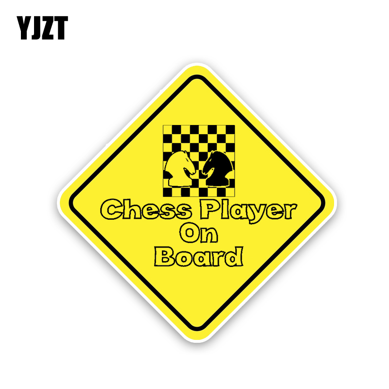 YJZT 15.8CM*15.8CM Chess Player On Board PVC Personality Car Sticker Decal 12-40225 image