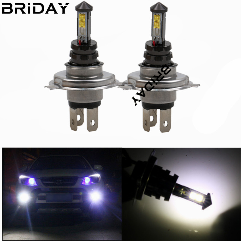 2pcs H4 car LED headlight Fog Lamps Daytime Running Light Auto White Lights for cars 4smd LED car-styling ilight suorcing 12V dc12v h7 7 5w 5led led fog light high power car auto led xenon white daytime running light bulbs headlight head lights