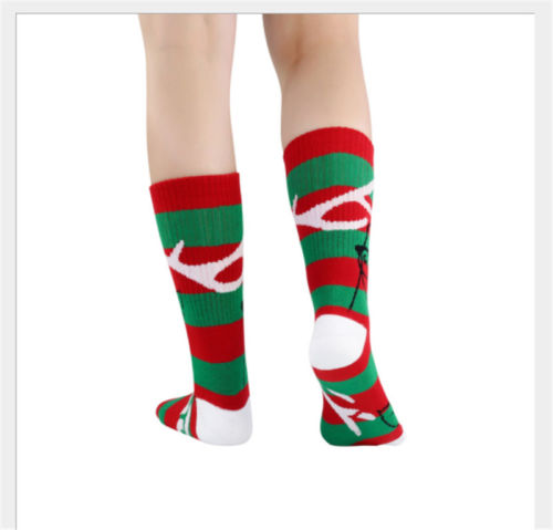 christmas stockings women men winter socks christmas gift warm wool sock snowflake deer new red green classic color stripe stock in stockings gift holders - Christmas Stockings For Men