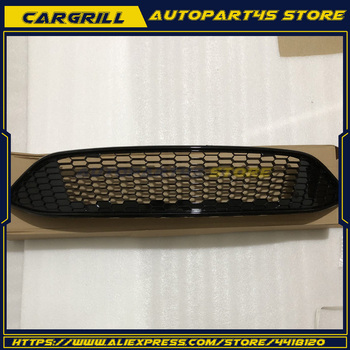 FrontBumper Grille For 2015 2016 Ford Focus ABS Gloss Black Honeycomb New Style