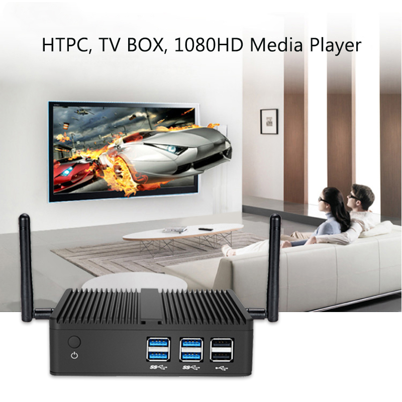 Image 4 - XCY Fanless Mini PC Windows 10 Core i5 4200Y i3 4010Y Micro Computer HDMI VGA WiFi Desktop gaming Office Household usb pc-in Mini PC from Computer & Office