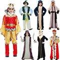 Арабская Одежда Король Принц Дубай Костюм Косплей Карнавал Хэллоуин Костюмы для Детей Рождество День Рождения