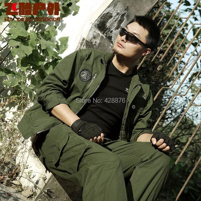 100% algodón masculina servicio de campo conjunto de oliva 101 EE.UU. de la fuerza aérea militar ropa de camuflaje Militar