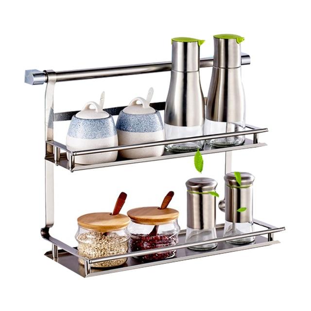 Guh Stainless Steel Kitchen Storage Rack Shelf Bathroom Double Layer E Jar