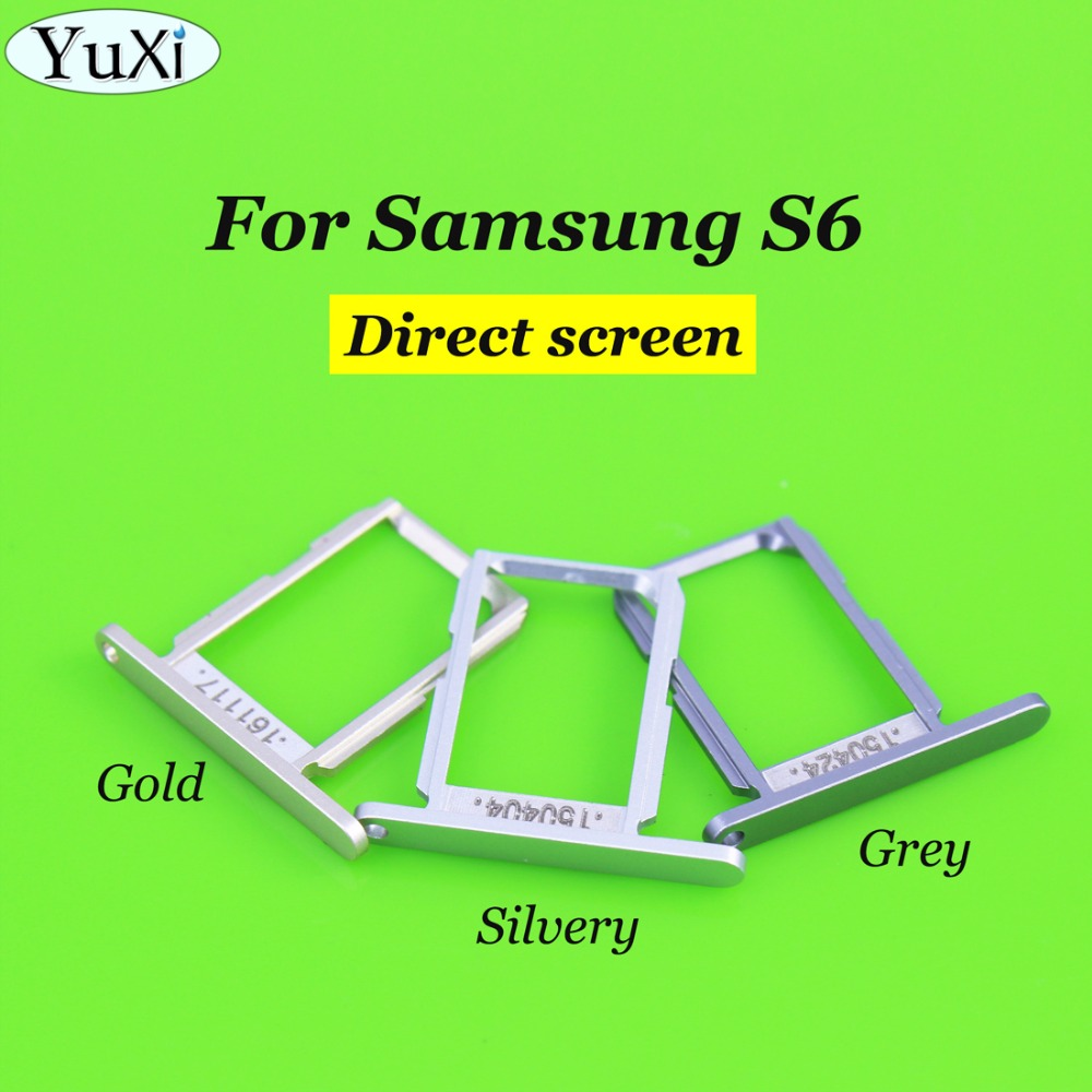YuXi 10 pcs/lot SIM Card Tray Holder Slot for Samsung Galaxy S6 G920 G920F SIM Holder Slot Tray Container Adapter