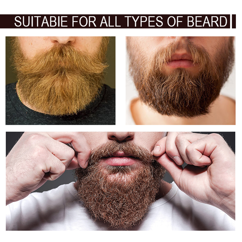 1pc 30ml Mokeru 100% Natural Organic Beard Growth Oil For Men Beard Grooming Treatment Shiny Smoothing Beard Care 1