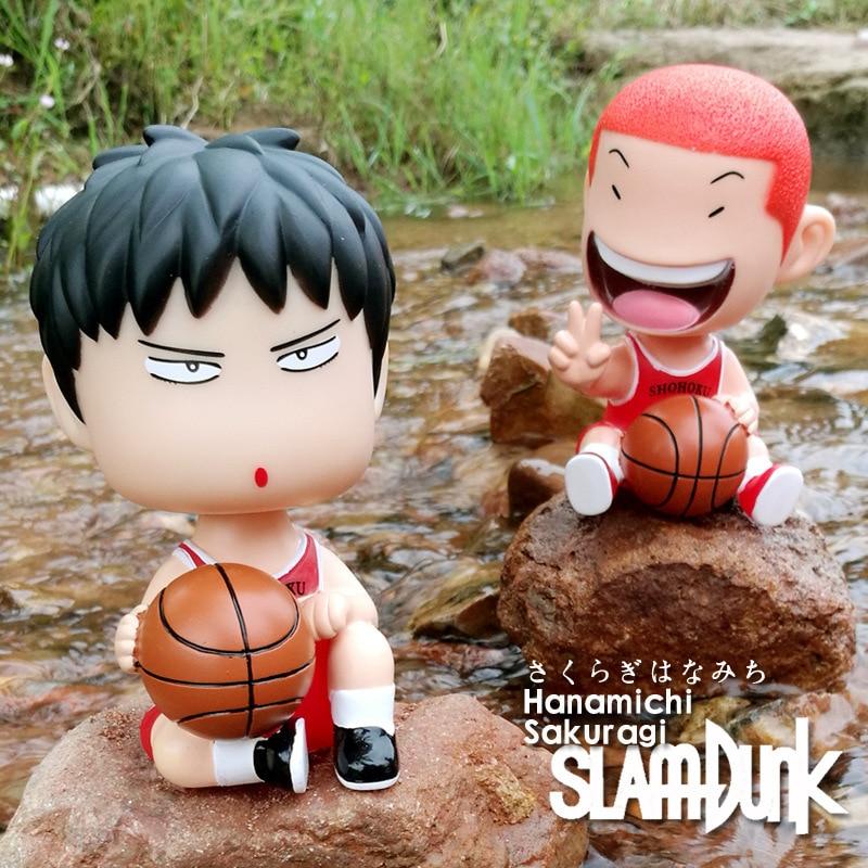 2PCS//set Slam Dunk Hanamichi Sakuragi Rukawa Kaede Mini Figure Model