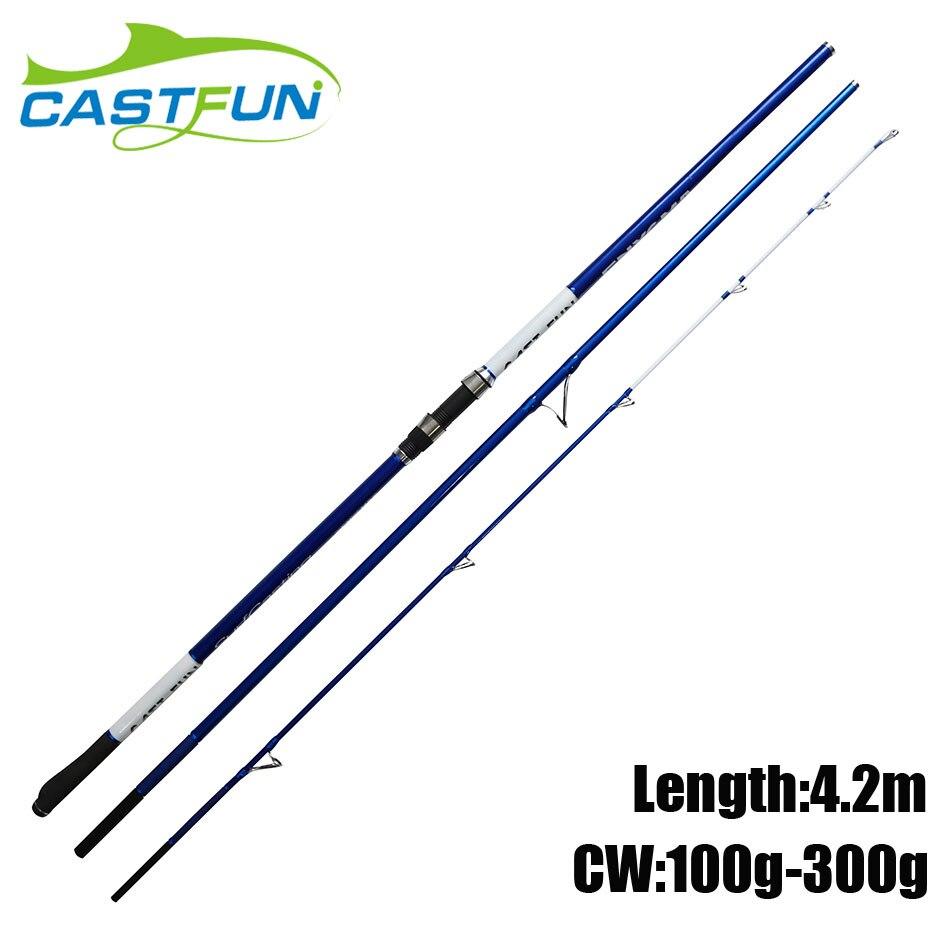 Здесь продается  CASTFUN Surf Rod 4.2m CW 100g 300g Carbon Fiber Surfcasting Fishing Rods 3 Section   Спорт и развлечения