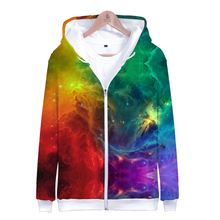 LUCKYFRIDAYF Starry sky Suicide Squad Funny 3D Zipper Hoodies Fan Women Spring Skull Print Long Sleeve Hoodie Clothes
