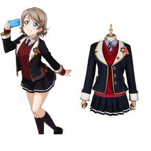 Love Live Sunshine Cosplay Watanabe You Costumes Uniform Outfit Anime Costume Halloween Carnival