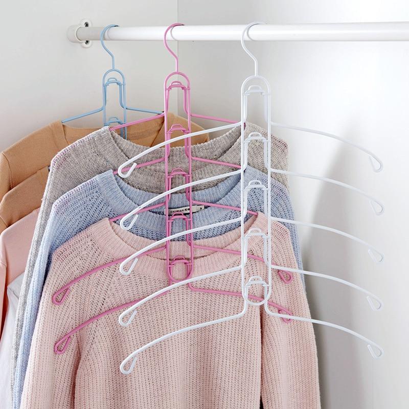5 Schichten Kleiderbügel hängende Kleidung Lagerung Hosen Hosenhalter