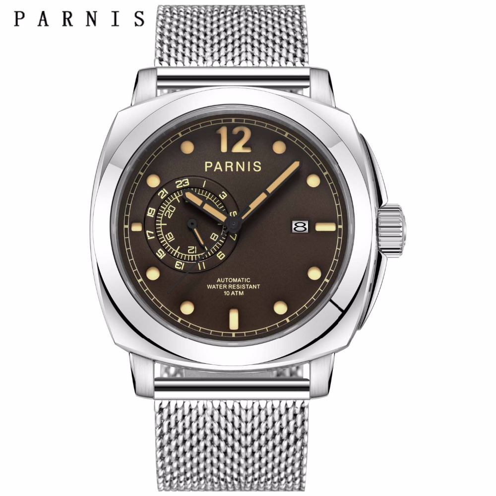 2017 New Arrival Mens Watches Top Brand Luxury  44mm Parnis - Men's Watches
