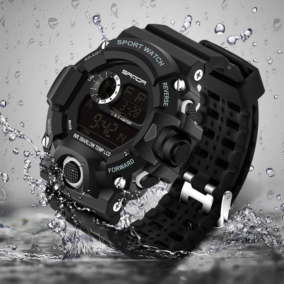 Prix pour Sanda Hommes Montres Top Marque De Luxe LED Numérique Militaire Sport Montres Hommes Montres Horloge Hommes Heures Mâle Reloj Hombre 2017