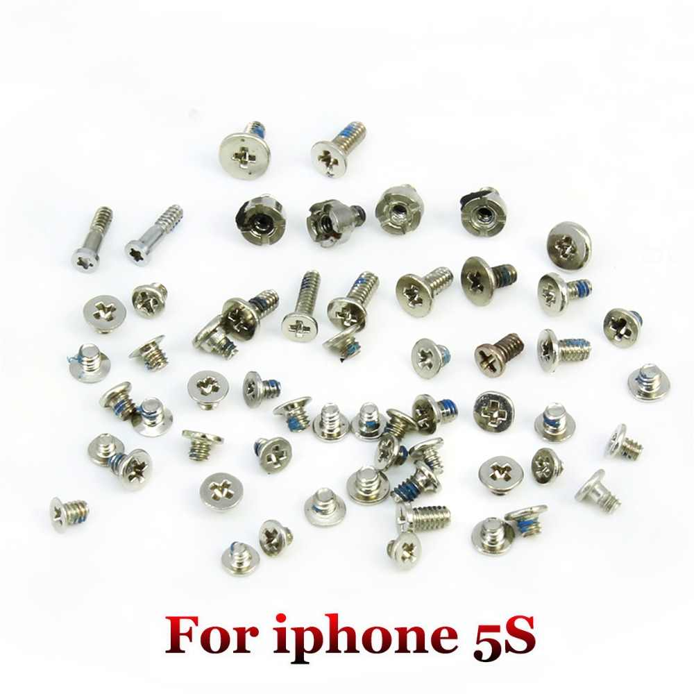 YuXi Penuh Set Sekrup Pengganti untuk iPhone 5 5S 5C 6G 6 Plus 6S 6S Plus 7 7 Plus 8 8Plus X Ponsel Aksesoris Kit Lengkap