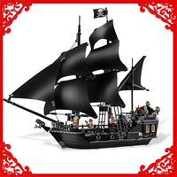 804Pcs Building Block Toys Caribbean Pirates Black Pearl Ship Model LEPIN 16006 Brinquedos Gift For Children