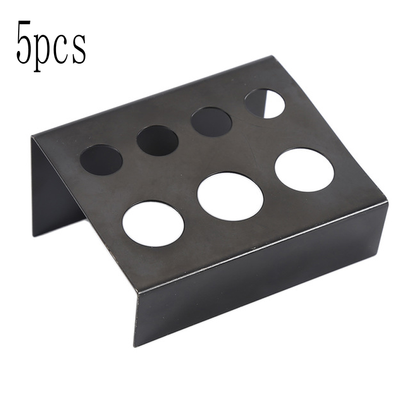Tattoo Accesories Black Stainless Steel Tattoo Ink Cup Holder Stand 7 Holes Supply Women Makeup Accessories Skin Beauty Hot Tattoo Supplies Convenience Goods Tattoo & Body Art