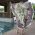 Summer Round Shaped Chiffon Shawl 10 Pattern Bohemia Pareo Beach Towel Europe Style Mandala Beach Mat Shawls Scarves