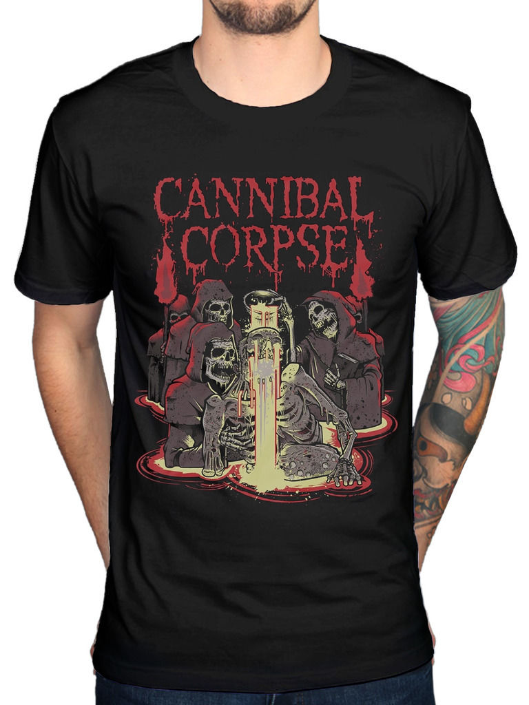 Official Cannibal Corpse Acid T-Shirt Skeletal Domain Bloodthirst Torture PlagueShirts Homme Novelty T Shirt Men