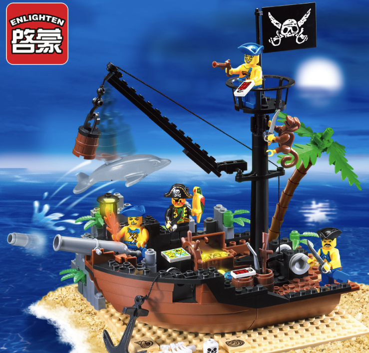178pcs Building Blocks Pirate Ship Series Sea Rover Corsair Broken Dock Toy Children Birthday Present Intelligence Plaything корпус corsair obsidian series 350d window cc 9011029 ww