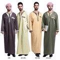 Настоящее Полиэстер Broadcloth Взрослых Исламской Муёской Абая Мусульманских Муёчин Thobes 2017 Арабские Халаты Платье На Ближнем Востоке Этнических Платье