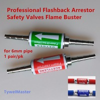 1pair Professional Flashback Arrestor Temper Preventer Flame Buster Safety Valve For Gas Cutting Welding Hose Pipe