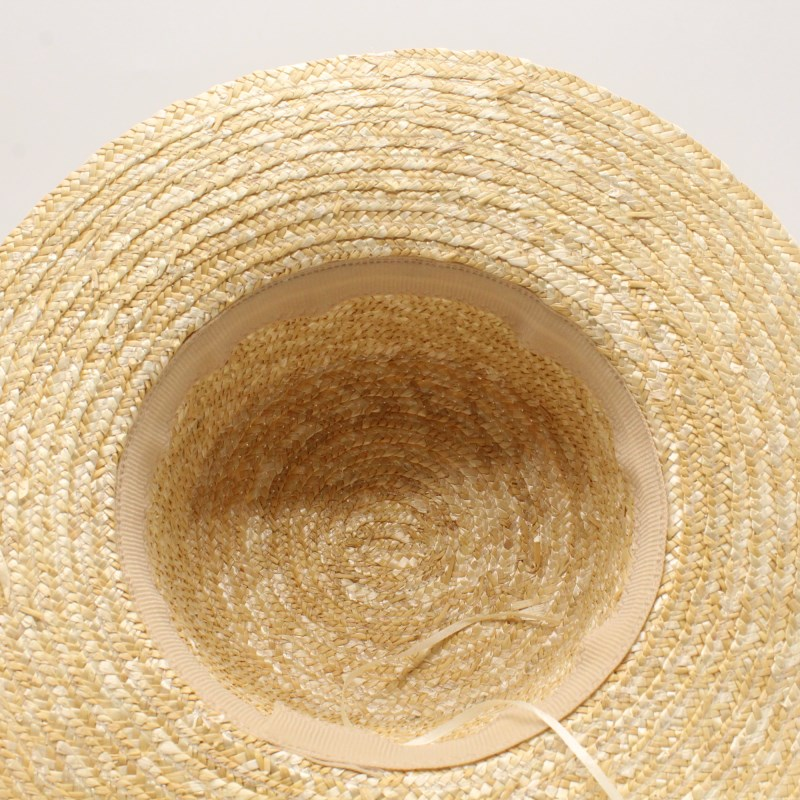 2019Summer Women Boater Beach Hat Female Casual Panama Hat Lady Ribbon Classic Bowknot Flat Sun Hat in Men 39 s Sun Hats from Apparel Accessories