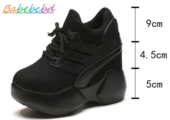 Babebcbd Spring 2019 new sneaker womens net cloth shoes inside high wo