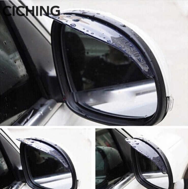 Estilo de coche espejo retrovisor lluvia ceja pegatinas para AUDI A3 A4 A6 B5 B6 B8 B7 A6 C5 C6 A5 Q3 Q5 Q7 BMW E46 E39 E90 Accesorios