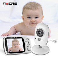 Fuers 3 2 VB603 Wireless Baby Monitor Audio Video Baby Camera Portable Baby Walkie Talkie Temperature