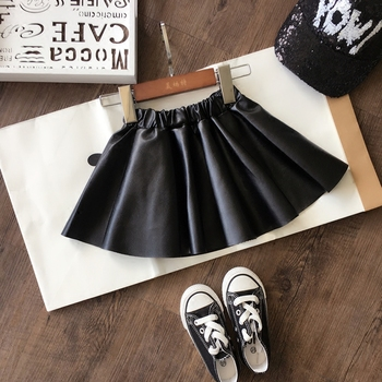 2020 new spring autumn Girls Kids leather PU skirt comfortable cute baby Clothes Children Clothing 2pcs lot spring autumn baby little girls knitted ruffle skirt suits children kids girl jersey skirt sweater bow tie frillies