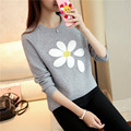 plus size sweater women spring autumn winter 2016 bermuda feminina Pullovers female thick loose knitt sweater A1443