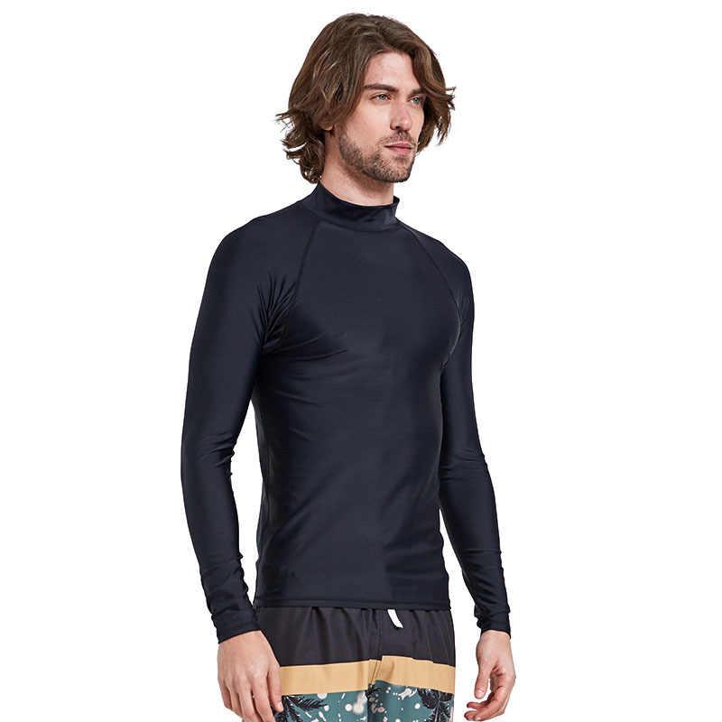 Sbart Erkek döküntü bekçi Sörf dalgıç giysisi Mayo uzun kollu takım yüzmek Dalış Takım Elbise sörf gömlek rashguard Sıkı Artı boyutu