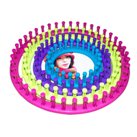 A Set of 4pcs DIY Plastic Round Shaped Hat Knitter Circular Knitting Looms in Different Sizes (Random Color)