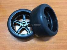 2x Front Slick tires width-63 mm for FG 1/6 rc car