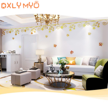 Flower pattern acrylic mirror wall stickers butterfly 3d mirror stickers living room bedroom wall decor wall lace decoration стикеры для стен mirror wall stick 60pcs 3 3 3 3cmceiling mirror decoration stickers
