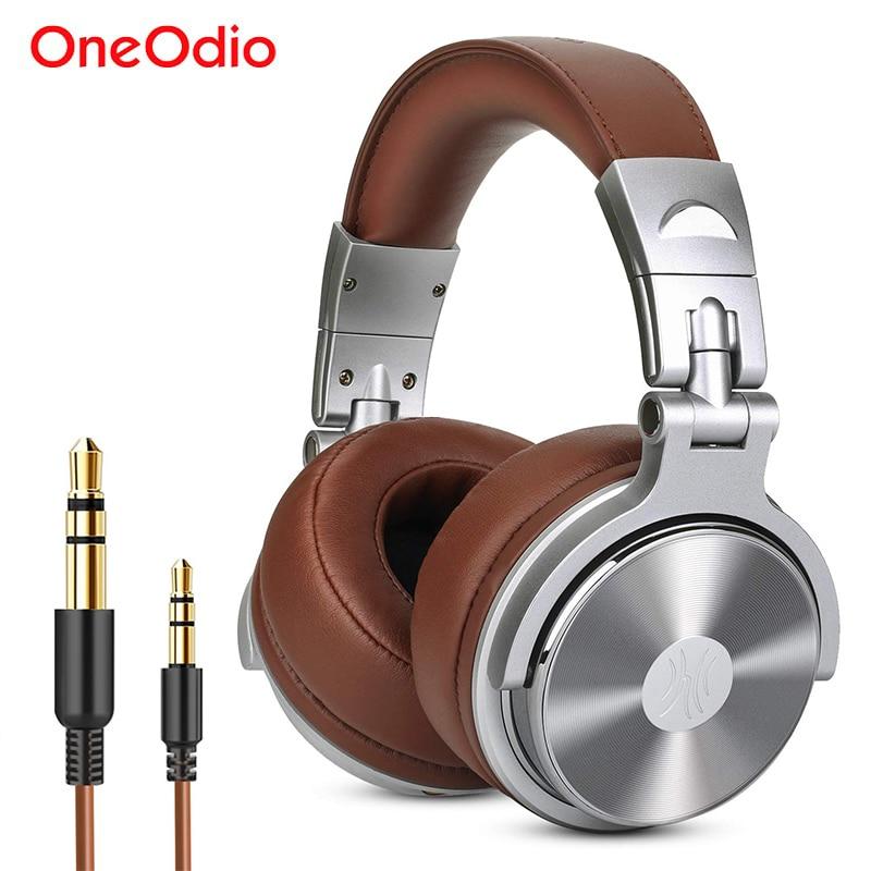 Студийные наушники Oneodio, профессиональная гарнитура для монитора с микрофоном, проводные стереонаушники DJ для записи, шумоизоляции